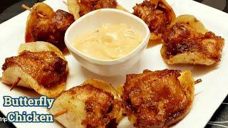Quick, Easy and Tasty Chicken Snacks Recipe | Butterfly Chicken | Chicken Starter Recipes