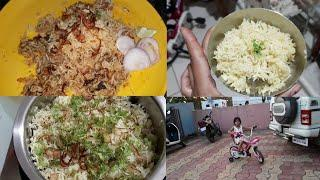 Yummy dinner Routine. BIRYANI RECIPE. Indian lifestyle with gauri. Daily vlog in hindi.
