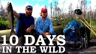 STRANDED in the WILD for 10 Days! | Camping, Fishing, Catching and Cooking (FULL SERIES)