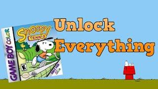 How to unlock all Characters and Fields in Snoopy Tennis