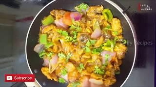 Mushroom Manchurian | Indo-Chinese Fusion Recipe | Starter/Side Dish Recipe | With English Subtitle