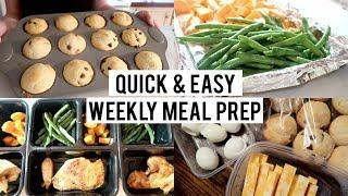 EASY BUDGET FRIENDLY MEAL PREP | LUNCH & SNACK MEAL PREP
