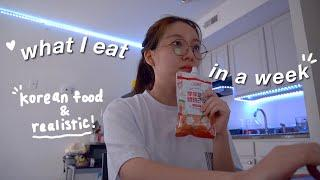 what i eat in a week at college *very realistic*