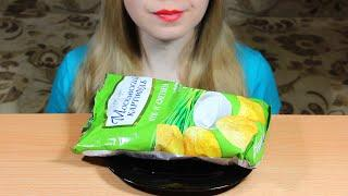 ASMR Eating Moscow Potato Chips (Crunchy Eating Sounds) NO TALKING. Tasty ASMR Eating