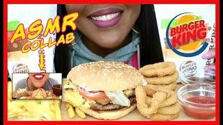 ASMR BURGER KING POPULAR FOODS DOUBLE WHOPPER WITH CHEESE ~ EATING SOUNDS COLLAB @EAT WITH KOKO ASMR