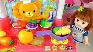 Baby Doll sound kitchen and cooking food and baby Doli cute music - ToyPudding