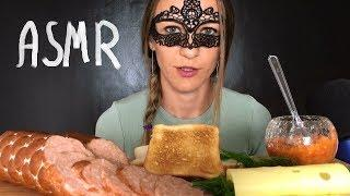 ASMR SANDWICH WITH SAUSAGE & CHEESE MUKBANG (Eating Sound) ASMR ITALY