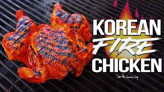 Spicy Korean Fire Chicken - the Best Whole Chicken Recipe EVER! | SAM THE COOKING GUY 4K
