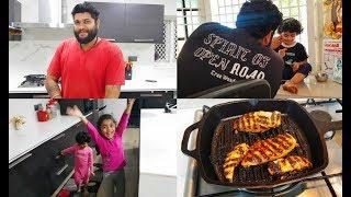 Super Fun Vlog with Maha & Mahi - Grilled Chicken Wrap Recipe - YUMMY TUMMY VLOG