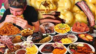 I ORDERED TOO MUCH FOOD! EATING SHOW | Top Rated BBQ Restaurant FEAST