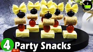 4 Quick Party Snacks & Starters | Ideas For Kid's Birthday Party Snacks | Easy Kids Party Food Ideas