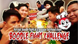 EPIC BOODLE FIGHT CHALLENGE @ JOLLIBEE (Valentine's Day)