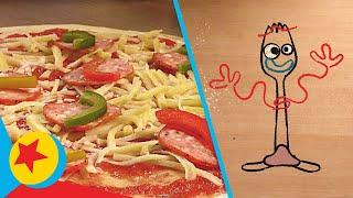 Pizza Planet Pizza with Chef Forky | Cooking With Pixar