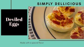 Easy Recipes: Deviled Eggs (eggs + mayo + mustard and a special ingredient!)
