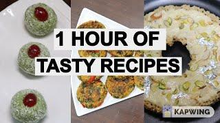 1 Hour Tasty Recipes |  party starters |  Sweets recipe | Snacks Recipes | Instant recipes