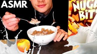ASMR EATING CEREAL & APPLE CRUNCHES MUKBANG (NO TALKING) EATING SOUNDS - 쇼먹는 | eaTINGles