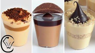 Mini Caramel Desserts Cups COMPILATION Delicious EASY Make Ahead Caramel & Chocolate Mousse AMAZING