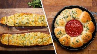 Warm And Cheesy Garlic Breads • Tasty Recipes