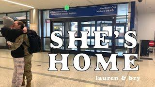 Picking Bry up from the Airport!! | Surprise Hibachi at Home | Lauren and Bry | LGBTQ