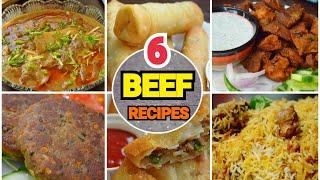 6 BEEF RECIPES EID SPECIAL by (YES I CAN COOK) #BakraEid2019 #EidRecipes2019 #BeefRecipes