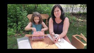 Rug Hooking Wool Simple Spot Dyeing Fabric Painting & Sissex Cutter Demo