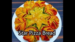 How to make Star Pizza Bread | Easy Baking Recipe | Home Made Star Bread | Garlic Star Bread