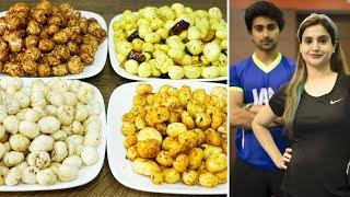 4 Makhana snack Recipes | Fox Nut | Healthy Snack For Weight Loss | Healthy Recipes By Chef Kanak