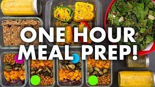 Easy Healthy Meal Prep for the Week in 1 HOUR!