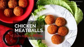 Crispy Chicken Meatballs | Homemade Chicken Meat Balls | Non-Veg Starter Recipe