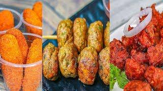 3 Easy Chicken Snacks Recipes | Chicken Cheese Fingers | Chicken Ball | Chicken Pakora | Toasted