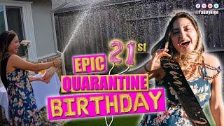 AMAZING QUARANTINE BIRTHDAY PARTY AT HOME - Rosie's EPIC 21st Birthday Parade Bar Crawl