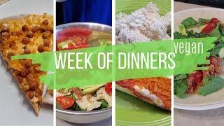 Vegan Dinners of the Week : Work Week Family Dinner Menu