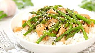 Chicken & Asparagus Stir-Fry Recipe | 20 Minute Meal Prep | Healthy + Quick + Easy