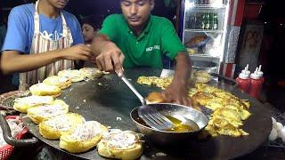 Fastest Burger Making skill || Egg Bun Kebab  || Street Food Pakistan || Street Food India