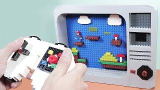 Lego in Real Life #15 - Play Game Mario and Make Pizza | Lego Stop Motion Cooking & ASMR 4K