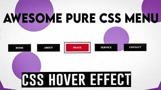 Awesome Pure Css Menu Hover Effect 2020 || Yogi Tech Toturial