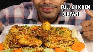 FULL CHICKEN BIRYANI-INDIAN FOOD-WITH BOILED EGG & SALAD..MUKBANG EATING SHOW(love to eat)