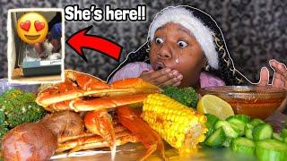 My BABY Has been BORN!! |Seafood Boil MUKBANG ~Eating show