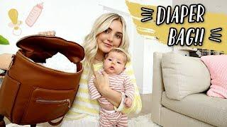 WHAT'S IN MY DIAPER BAG FOR A NEWBORN!!