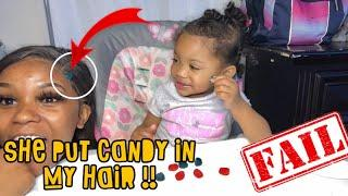 FRUIT SNACK CHALLENGE ON MY BABY !!|| EPIC FAIL