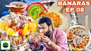 Rangeen Breakfast Street Food In Varanasi with Veggiepaaji | EP 08
