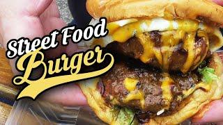 American Double Beef Burger | Malaysia Street Food