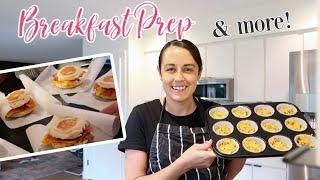 BREAKFAST MEAL PREP IDEAS | GET IT ALL DONE | COOK & CLEAN WITH ME