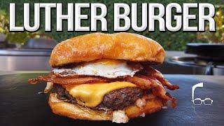 The Luther Burger - Best Donut Bacon Cheeseburger | SAM THE COOKING GUY 4K