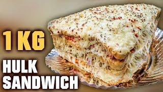Biggest Sandwich In Mumbai | 1 Kg Hulk Sandwich | 5 Layer Hulk Sandwich | Mega Foods 2019