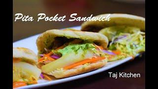 Beef Pocket Sandwich Recipe │ Beef Filling Recipe│ how to make Pita Bread at Home