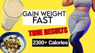GAIN WEIGHT AT THE RIGHT PLACES WITH NO BELLY FAT(for skinny girls)(fast metabolism)✅
