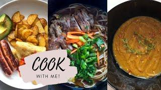 #CookWithMe Paprika Potatoes, Ramen & Butternut Soup