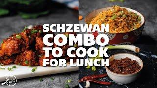 Schezwan Combo to Cook for Lunch | Indo Chinese Cuisine | Lunch Recipes | With Subtitles
