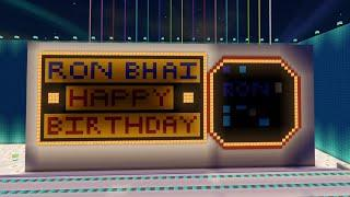 MINECRAFT | RON BHAI BIRTHDAY CELEBRATION